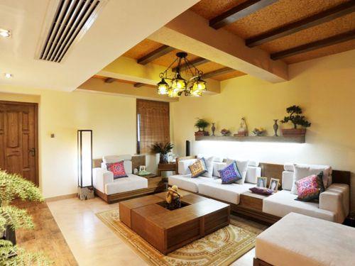 东南亚风格三居室客厅茶几装修图片