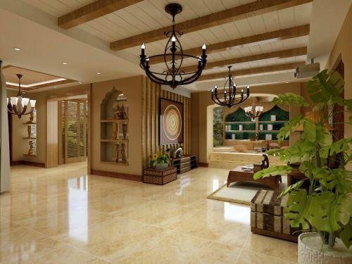 东南亚风格五居室客厅吊顶装修效果图大全