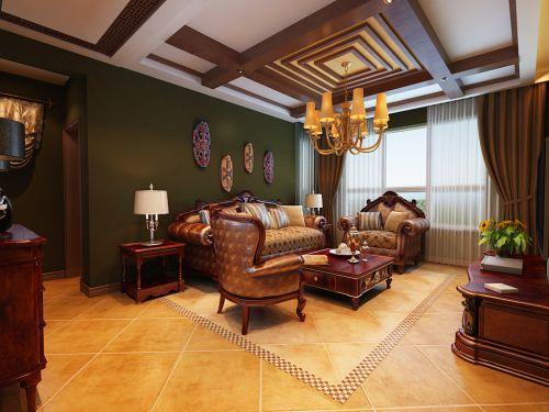 东南亚风格二居室客厅吊顶装修效果图