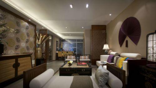 东南亚风格三居室客厅装修效果图
