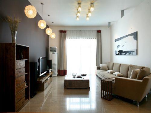 东南亚风格四居室客厅吧台装修效果图欣赏