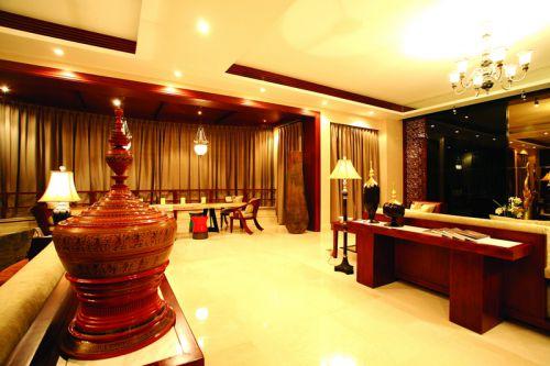 东南亚风格四居室客厅灯具装修效果图大全
