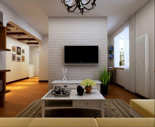 东南亚风格二居室客厅吊顶装修效果图大全