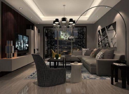 东南亚风格二居室客厅照片墙装修图片