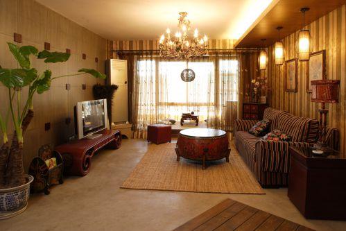 东南亚风格三居室客厅沙发装修图片