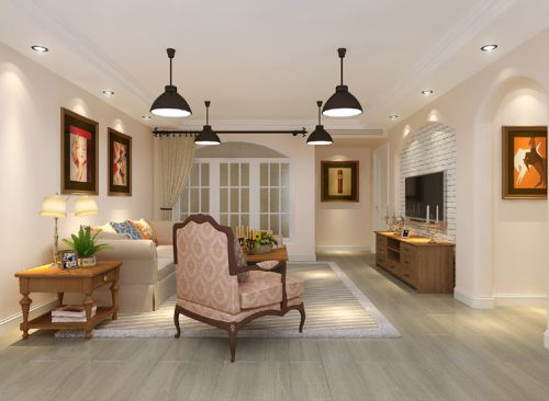东南亚风格三居室客厅吧台装修图片