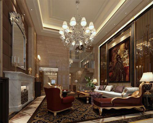 东南亚风格四居室客厅背景墙装修效果图大全