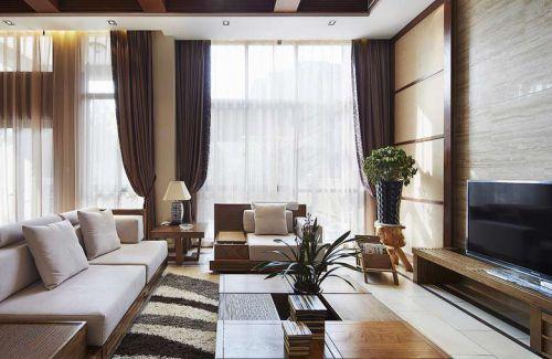 东南亚风格四居室客厅吊顶装修效果图大全