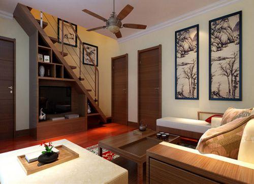 东南亚风格复式客厅吊顶装修效果图欣赏