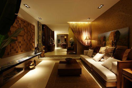 东南亚风格三居室客厅装修图片