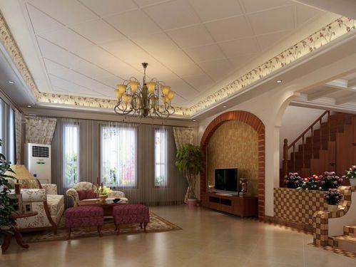 东南亚风格五居室客厅装修效果图欣赏