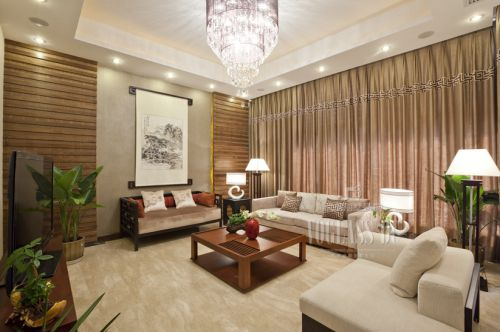 东南亚风格别墅客厅装修效果图