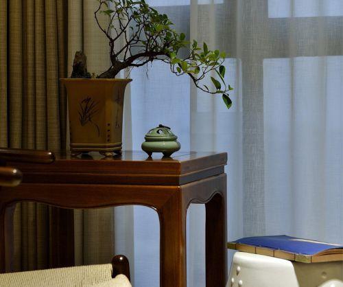 清雅古典风格客厅飘窗效果图
