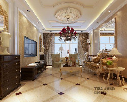 西式古典三居室客厅飘窗装修效果图欣赏