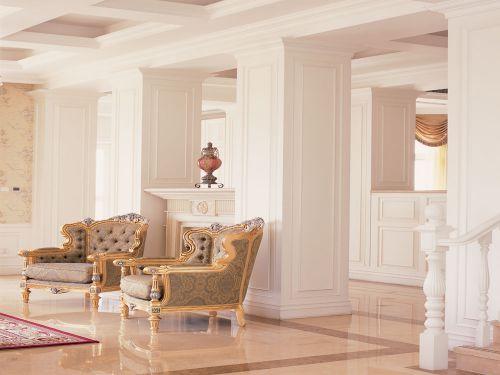 西式古典六居室以上客厅楼梯装修效果图
