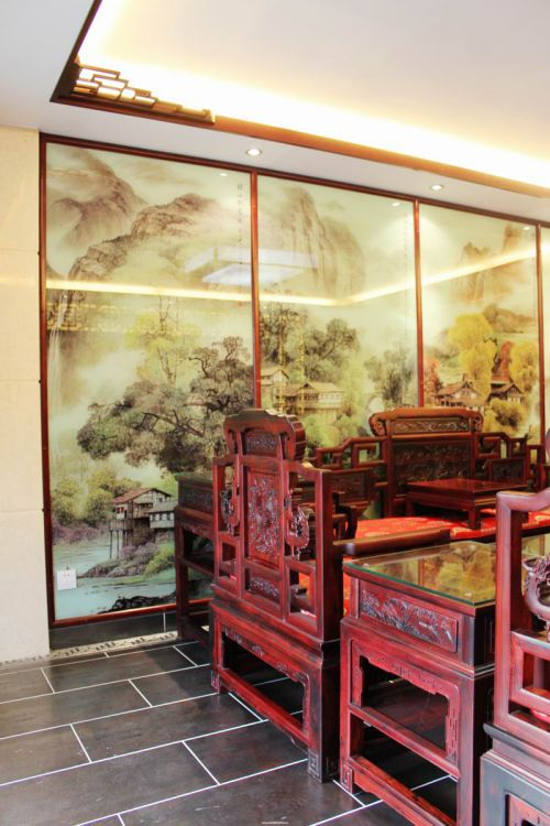中式古典三居室客厅装修图片欣赏