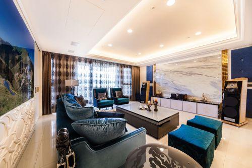 新古典风格奢华大气客厅装修效果图