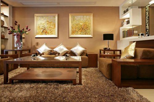 精致古典风格轻奢暖意客厅装修效果图