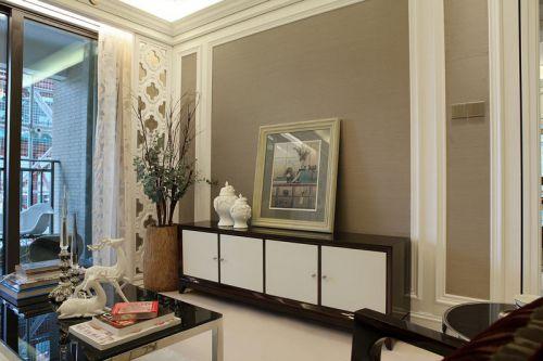 雅致低调新古典风格客厅储物柜装修图片