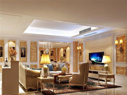 新古典风格别墅客厅沙发装修设计图