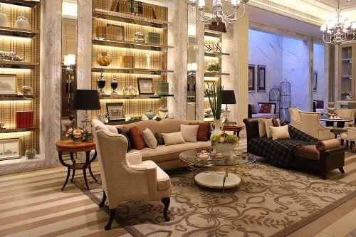 高端新古典客厅米色沙发装修效果图