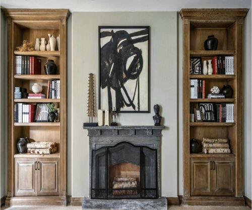 西式古典四居室客厅壁纸装修效果图大全
