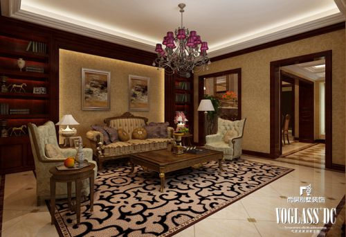 西式古典别墅客厅装修效果图大全