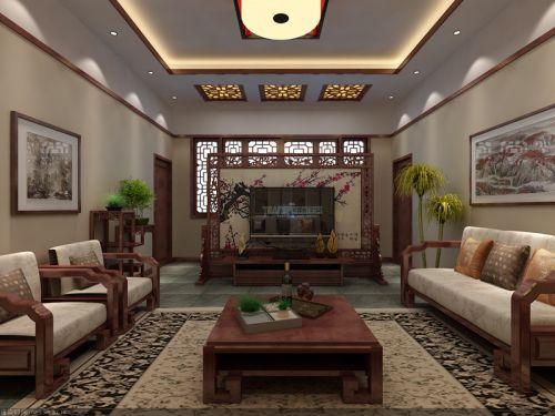 中式古典其它客厅吊顶装修效果图大全