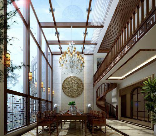 中式古典五居室客厅飘窗装修效果图大全