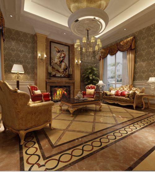 新古典风格别墅客厅沙发装修效果图大全