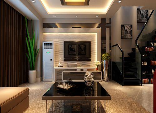 新古典风格复式客厅楼梯装修图片