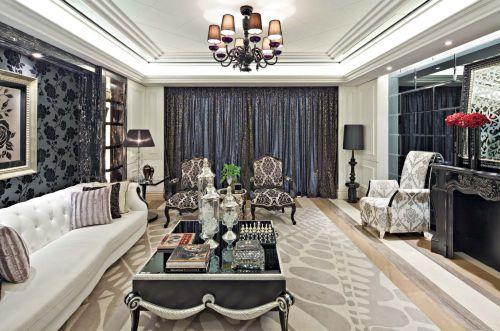 新古典风格六居室客厅窗帘装修效果图大全