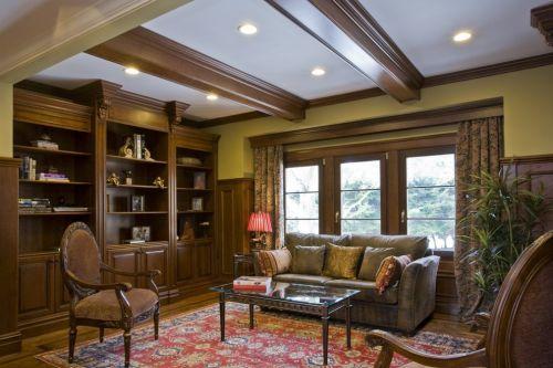 新古典深咖色客厅沙发装修效果图