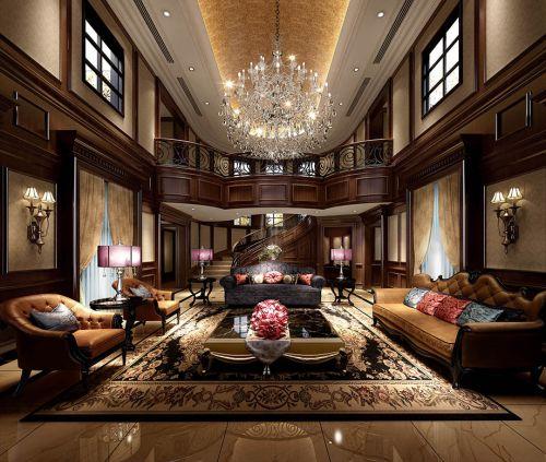 西式古典五居室客厅吊顶装修效果图