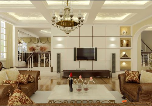 新古典五居室客厅装修效果图欣赏