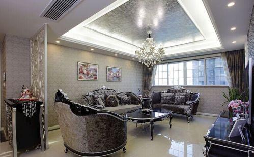 新古典风格三居室客厅橱柜装修效果图欣赏
