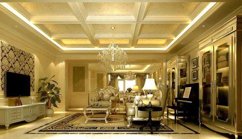 新古典三居室客厅吊顶装修效果图欣赏