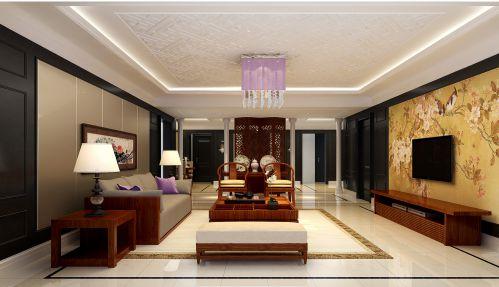 中式古典三居室客厅装修效果图大全