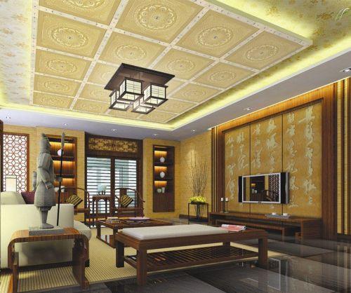 金粉世家古典风格客厅背景墙装修效果图
