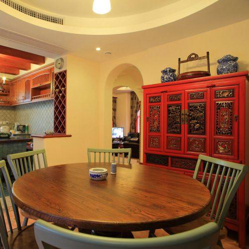 中式古典三居室客厅吧台装修效果图欣赏
