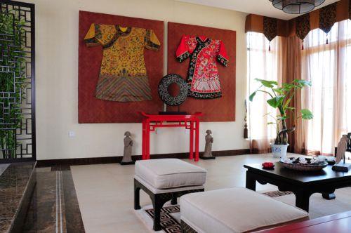 中式古典客厅装修效果图大全