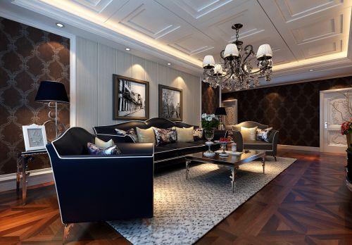 新古典风格三居室客厅吊顶装修效果图欣赏