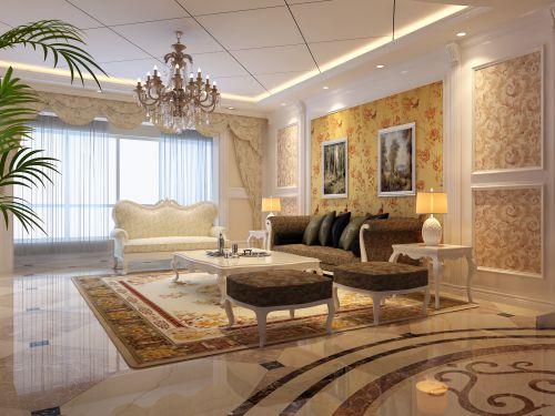 新古典风格四居室客厅装修图片欣赏