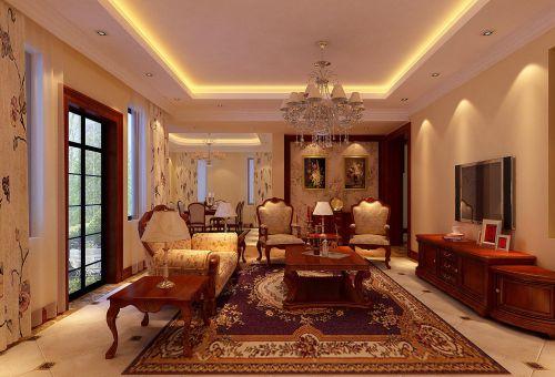 新古典风格别墅客厅沙发装修效果图