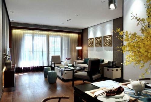 中式古典五居室客厅装修图片