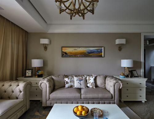 新古典风格客厅美好意境背景墙效果图