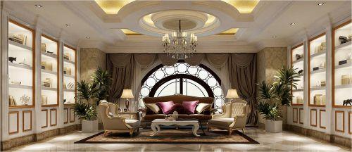 新古典风格五居室客厅飘窗装修效果图大全