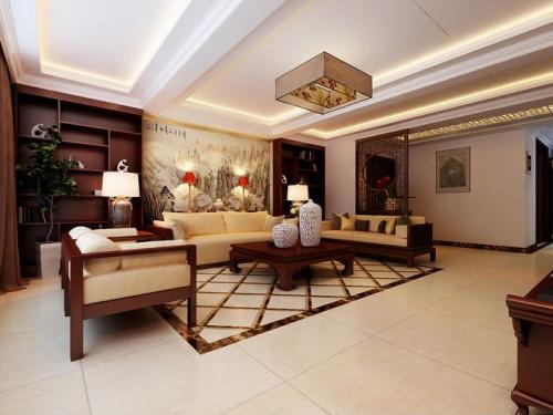 新古典风格二居室客厅装修效果图