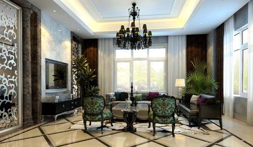 新古典风格六居室客厅吊顶装修效果图欣赏