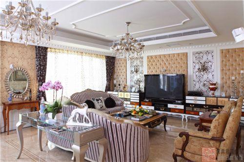 西式古典四居室客厅沙发装修图片